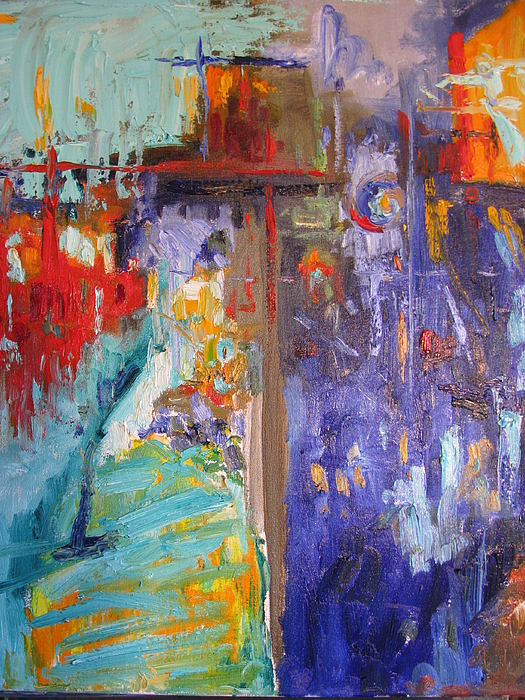 Abstract Painting - Market Street by Sharon Franke