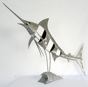 Marlin Sculpture - Marlin 906 by Stuart Peterman