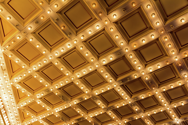 Lights Photograph - Marquee Lights On Theater Ceiling by David Gn