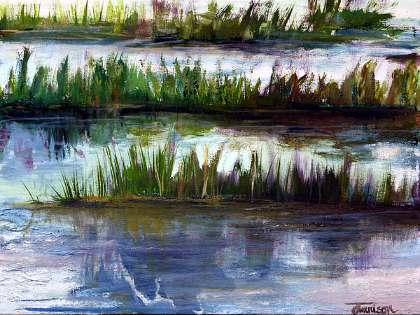 Landscape Painting - Marsh Grass by Jill Tennison