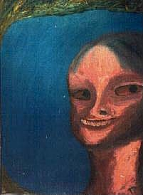 Portrait Painting - Martian Girl by Tom Rundquist