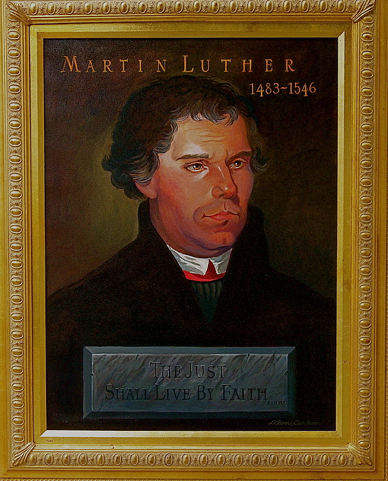 Portrait Painting - Martin Luther by Alan Carlson