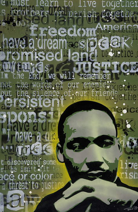 Pop Painting - Martin Luther King by Tai Taeoalii