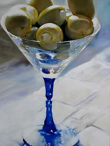 Martini Olives Painting by Eleven-Eleven Art Gallery