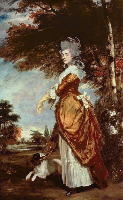 Woman Painting - Mary Amelia First Marchioness Of Salisbury by Sir Joshua Reynolds