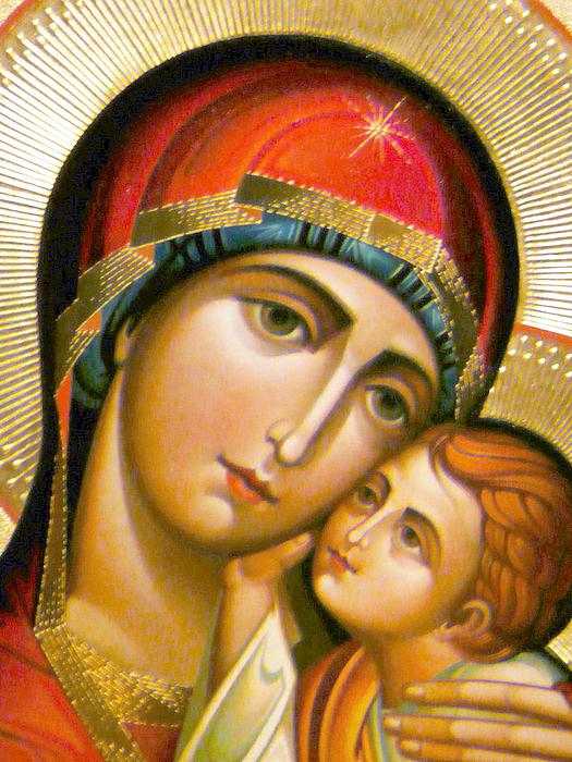 Orthodox Photograph - Mary Icon by Munir Alawi