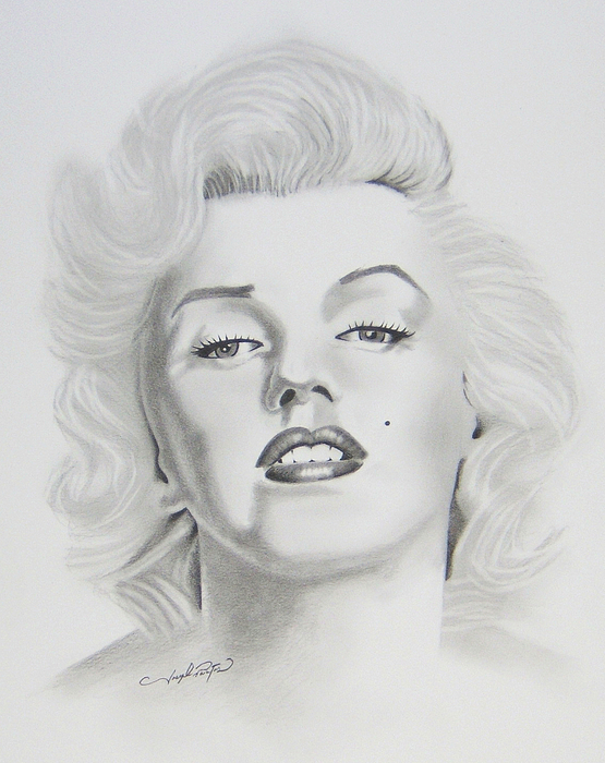Marylin Drawing - Marylin Monroe  by Joseph Palotas