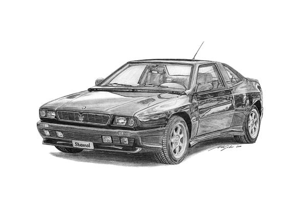 Maserati Drawing - Maserati Shamal by Gabor Vida