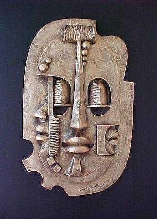 Mask Sculpture - Mask Of Life by Chidi Okoye
