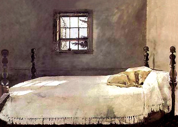 Master Bedroom Painting by Andrew Wyeth