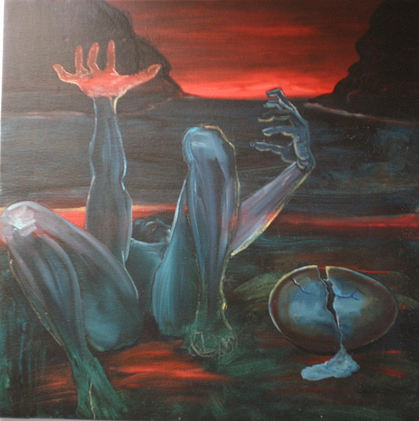 Surrealism Painting - Mather Earth Dying by Jan Paulus-maly