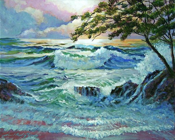 Seascapes Painting - Matsushima Coast by David Lloyd Glover