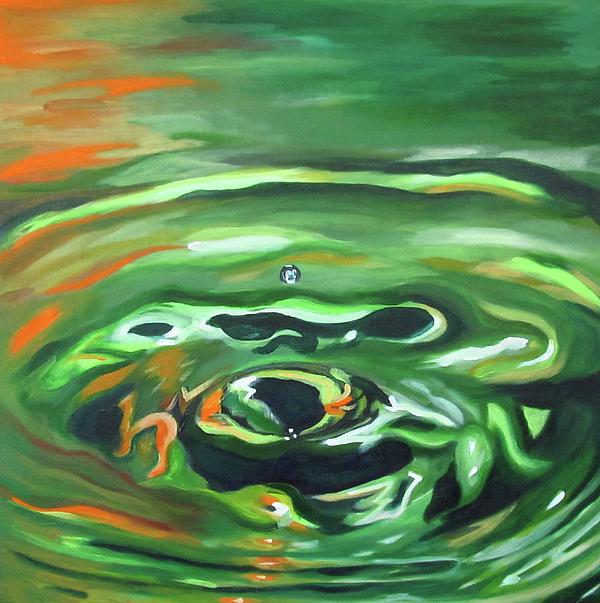 Water Painting - Matties Drop by Dani Altieri Marinucci