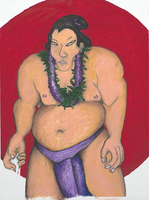 Sumo Painting - Maui Sumo by Billy Knows