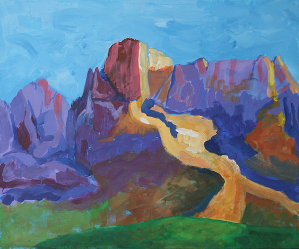 Landscape Painting - Mauve Catalina by Mordecai Colodner