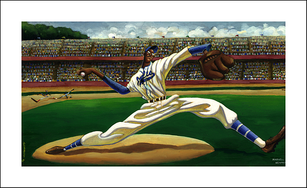 Negro Baseball League Painting - Max On The Mound by Keith Shepherd