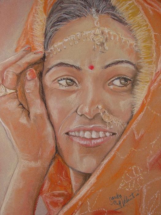 Portrait Pastel - Maya by Sandra Valentini