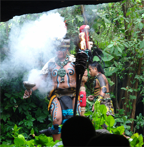 Photo Photograph - Mayan Ceremony  by Angel Ortiz