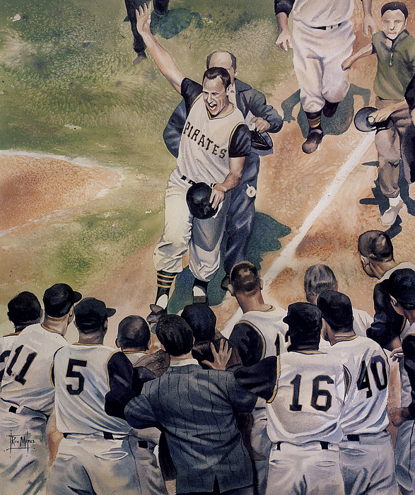 Baseball Painting - Maz by Rich Marks