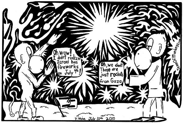 4th Of July Drawing - Maze Cartoon Of Israel On The Forth Of July by Yonatan Frimer Maze Artist