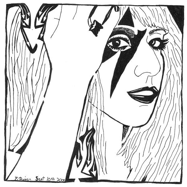 Lady Gaga Painting - Maze Of Lady Gaga by Yonatan Frimer Maze Artist