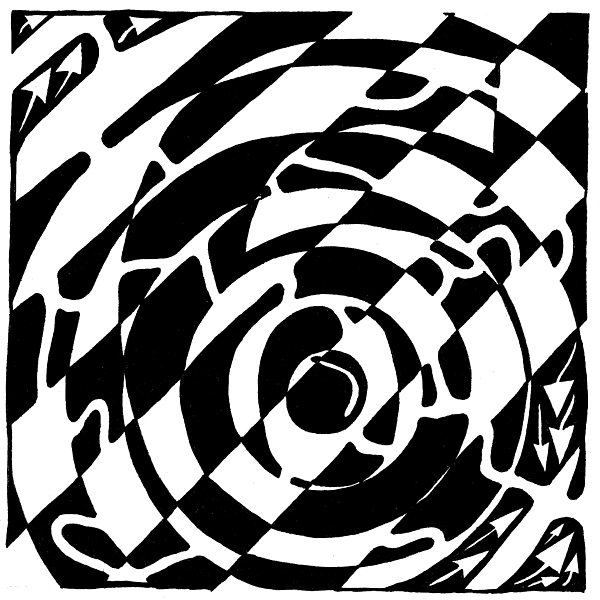 Maze Drawing - Maze Of The Number Six by Yonatan Frimer Maze Artist
