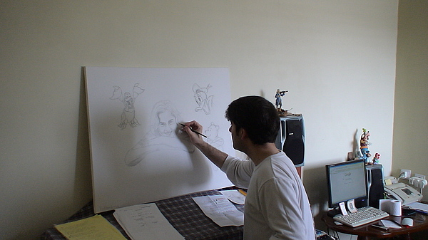 Me Drawing Drawing - Me Drawing by Alex Klein