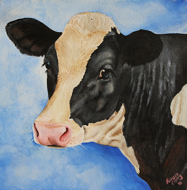 Cow Painting - Meadow by Laura Carey
