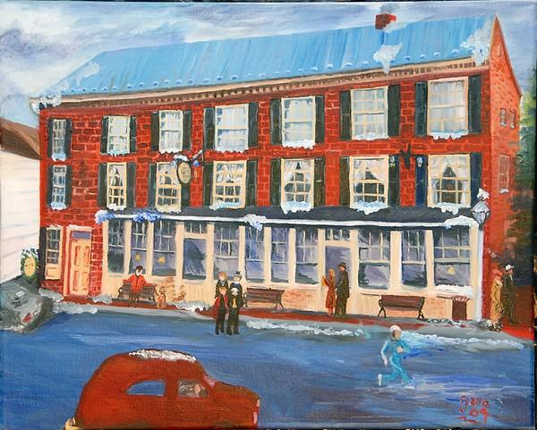 Inns Painting - Mealeys Tavern by Gloria Condon