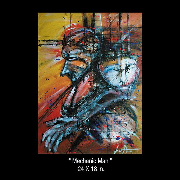 Mechanic Man Painting by Leonardo Amador