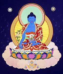 Buddhism Painting - Medicine Buddha by Leslie Nguyen Temple