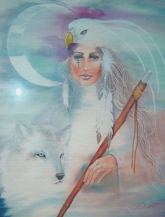 Medicine Woman Painting - Medicine Woman by Christine Winters