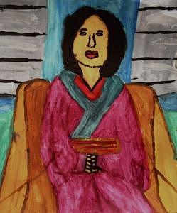 Meditation Painting - Meditation by Annie Dameron