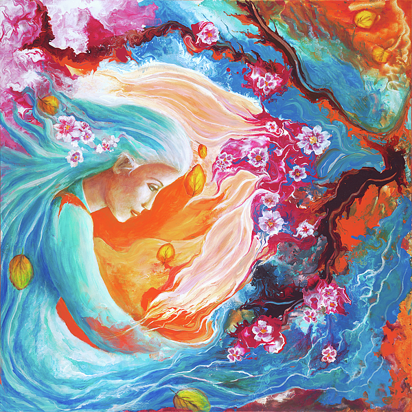 Colorful Painting - Meditation by Valerie Graniou-Cook