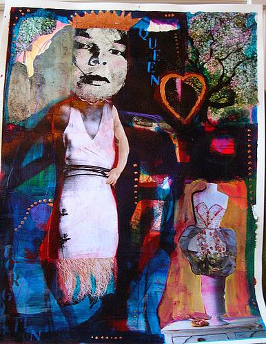 Figurative Mixed Media - Meet Virginia by Karen Geiger