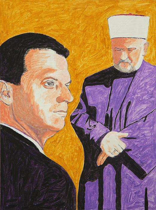 Society Painting - Meeting - Susret by Ekrem Fetic