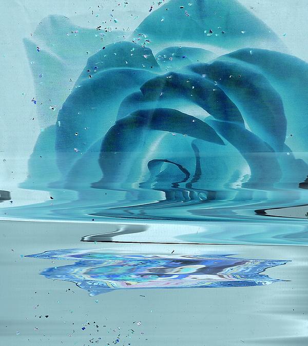 Blue Painting - Melting Blue Rose  by Anne-Elizabeth Whiteway