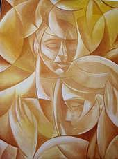 Lovers Painting - Memories Embrace by Jason  Felkner
