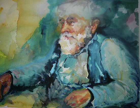 Blues Painting - Memories by Maureen Shingleton