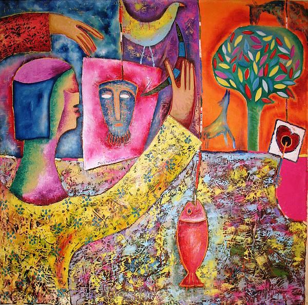 Tree Painting - Memories Of The Heart by Jacob  Wachira Ezigbo