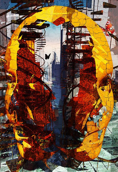Abstract Digital Art - Memory Swamp by Haruo Obana