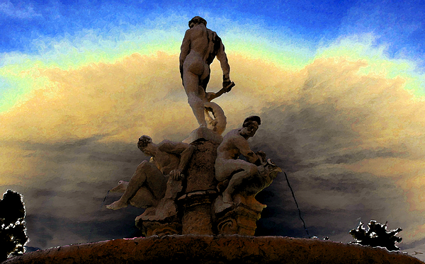 Artwork Painting - Men Of Greece by David Lee Thompson