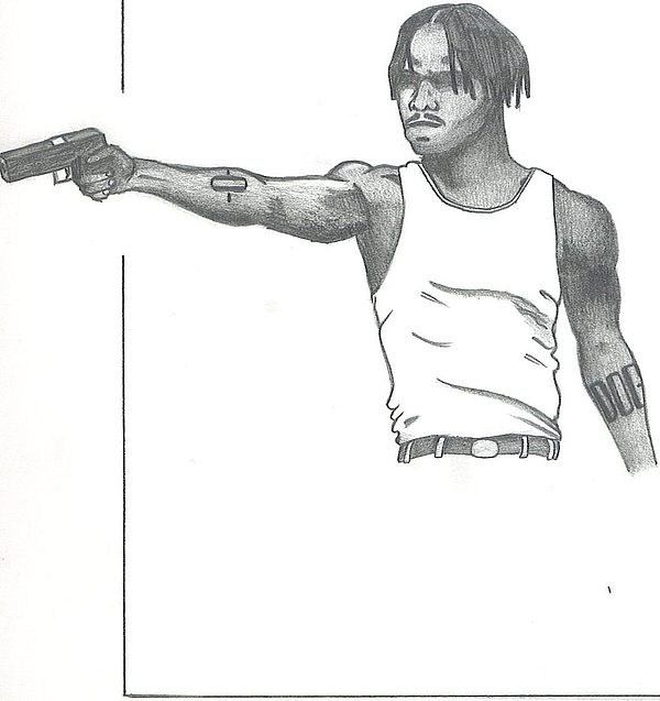 Menace Ii Society Drawing By Nathan Denham Ii