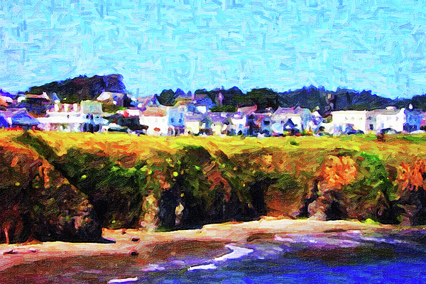 Mendocino Photograph - Mendocino Bluffs by Wingsdomain Art and Photography