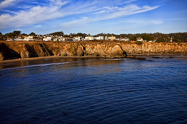 Mendocino Photograph - Mendocino Coastal Town by Garry Gay