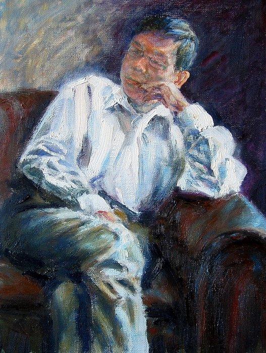 Portrait Painting - Menhwei by Menq Tsai