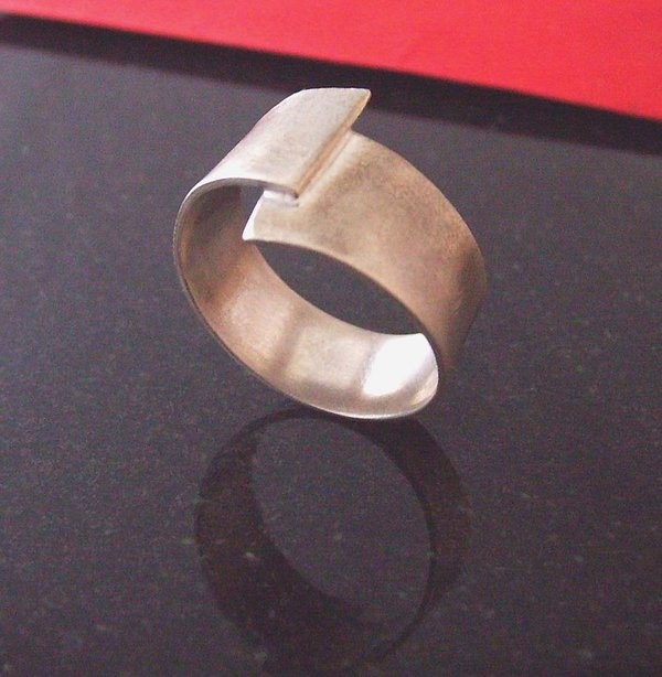 Sterling Silver Jewelry - Mens Off Center Ring by Aimee Koester