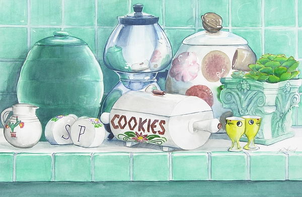 Cookie Painting - Merceil Phyllis And Pat by Jane Loveall