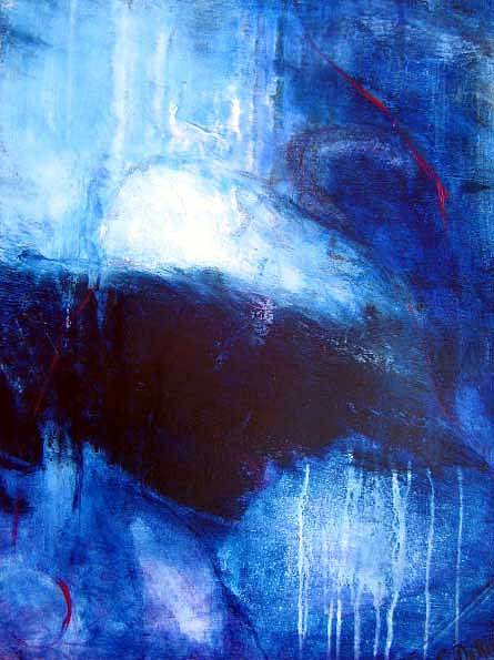 Abstract Painting - Mere Molusque by Carmelle Dorion