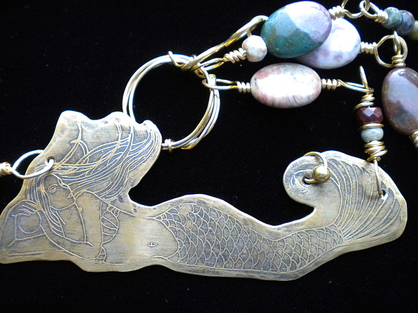 Necklace Jewelry - Mermaid Necklace by Theresa Lemal